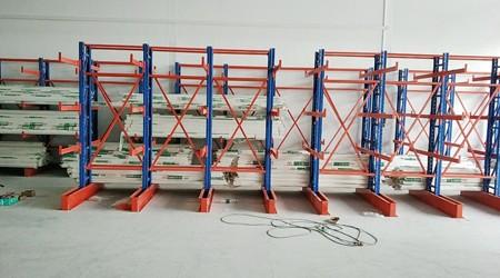电力行业广州悬臂式货架案例【易达货架】