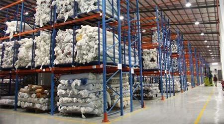 布匹布料仓库货架能实现自动化存取货吗?【易达货架】