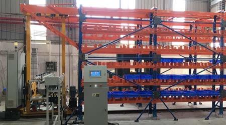 冷库高层货架厂家马来西亚客户定制的Miniload安装好啦!【易达货架】