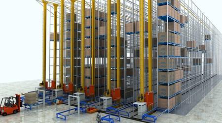 常温库自动化立库与冷库自动化立体仓储货架的区别[易达货架]