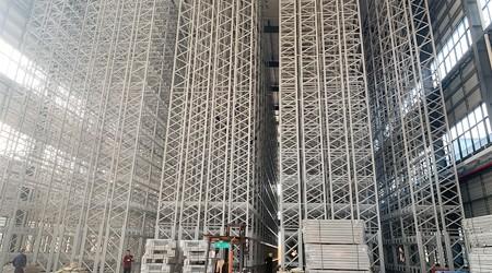 易达重型仓储货架定制公司耀东华立库安装进入收尾阶段 [易达货架]