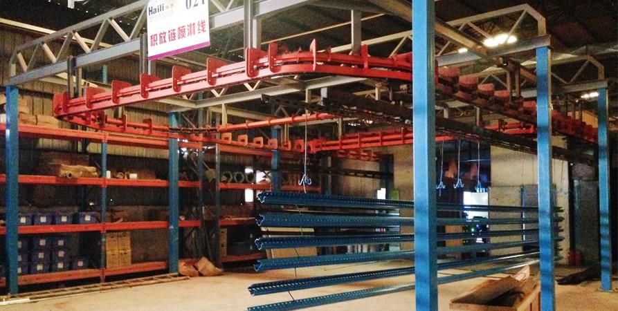 生产仓储货架喷涂线